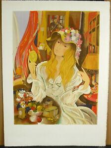 Robert-Vernet-Bonfort-1934-Young-Woman-Elegant-Choose-Make-c1970-21-11-16in