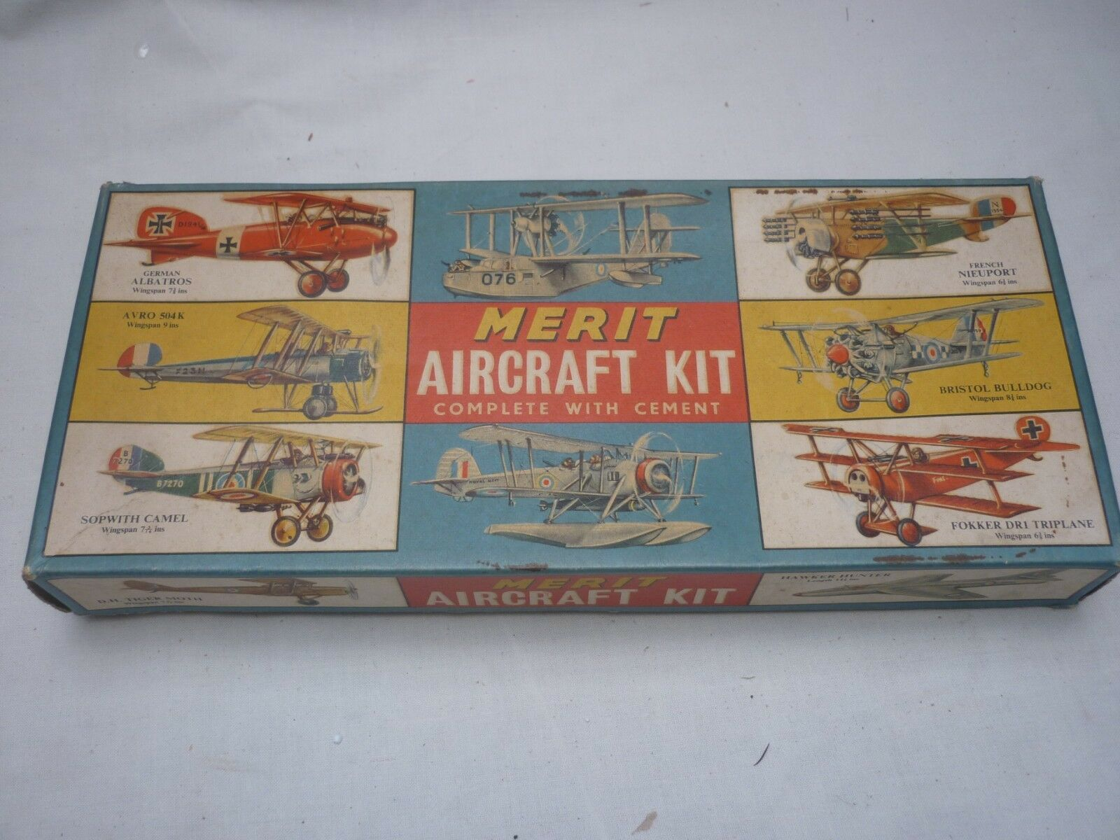 A Vintage Merit un Made plastic kit of a Fokker DR1, Boxed