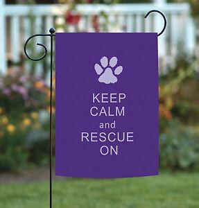 Toland Rescue On 12 5 X 18 Purple Kitty Puppy Paw Print Double Sided Garden Flag Ebay