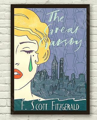 Vintage The Great Gatsby F.Scott Fitzgerald Poster Print Picture A3 A4