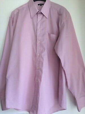 Utile Jeremy's City Chemise Rose Manches Longues 41/42 Polyester Et Coton Sentirsi A Proprio Agio