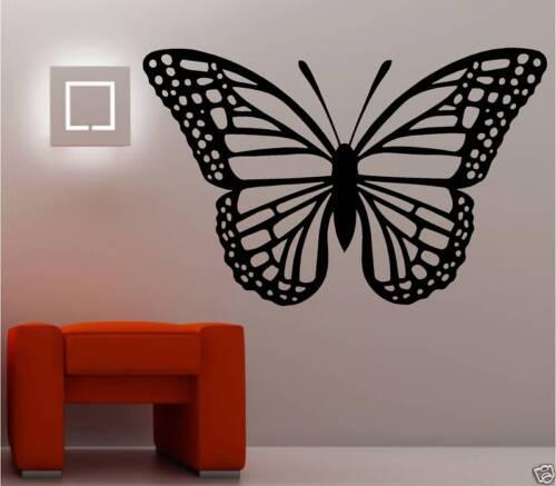 GIANT BUTTERFLY VINYL WALL ART STICKER  BEDROOM LOUNGE