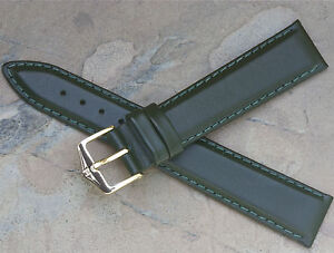 Hirsch-18mm-rich-green-padded-leather-vintage-watch-strap-water-resistant-4-sold