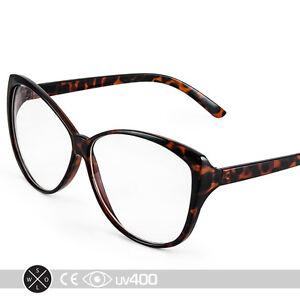 e5e9569586318 Image is loading Vintage-Tortoise-Cat-Eye-Cateye-Shaped-Clear-Sunglasses-