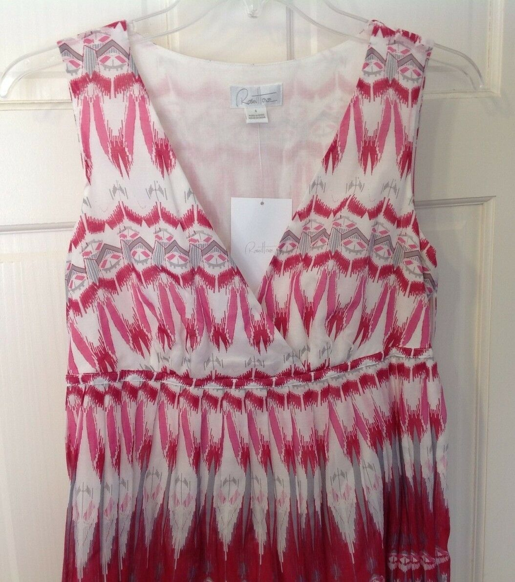 ROBIN HOWE PINK Silk Sleeveless DRESS Sz 4 NWT Brand New