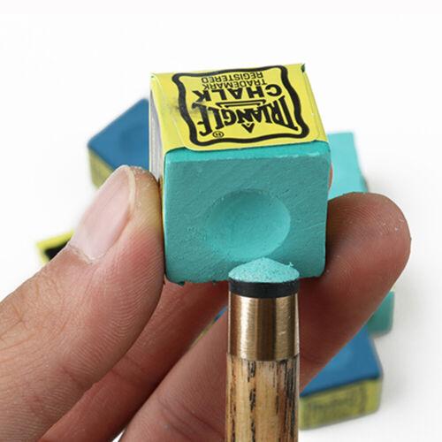 Snooker Cue Tips Chalks Green Dry Blue oily No-slip Billiard  Pool Cue Chalk