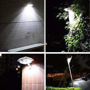 4 LED SOLAR POWER DOOR FENCE WALL LIGHTS OUTDOOR GARDEN YARD SHED LIGHTING LA
