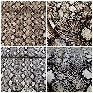 100% Viscose Tissu Impression Numérique Serpent Tissu Déco Vêtements Au Mètre Laissons Nos Produits Aller Au Monde