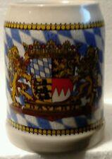 German Beer Mug One Half Liter Souvenir of Bayern