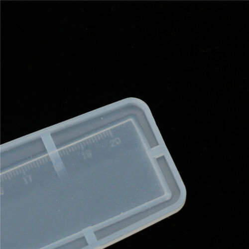 1pc Transparent Silicone ruler epoxy resin mold Decorative Craft DIY toolsBCD