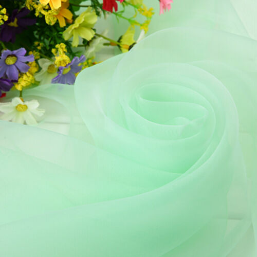 Sheer Organza Fabric Voile Wedding Party Home Decor Dress Material Colorful Trim