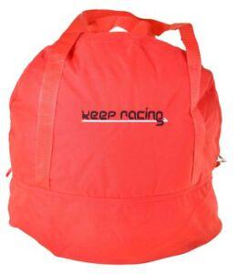 keep-racing® Helmtasche,rot,f. Kart- & Motorradhelme,Reißverschluss,Innenfutter