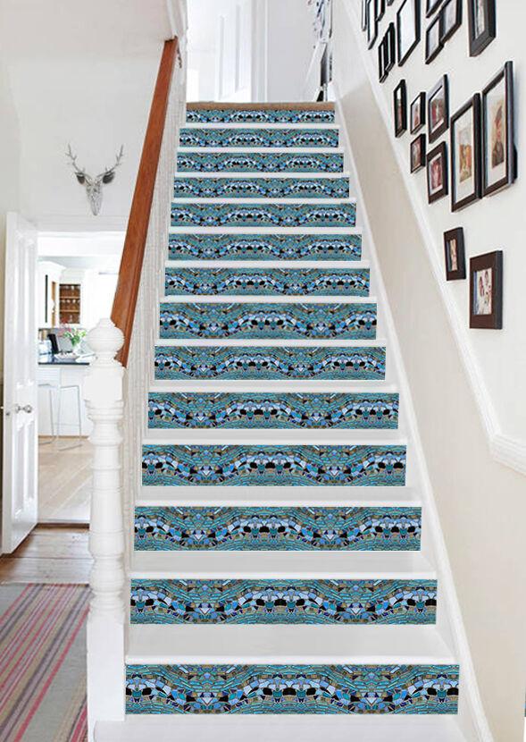 3D Marmor Glas 537 Stair Risers Dekoration Fototapete Vinyl Aufkleber Tapete DE