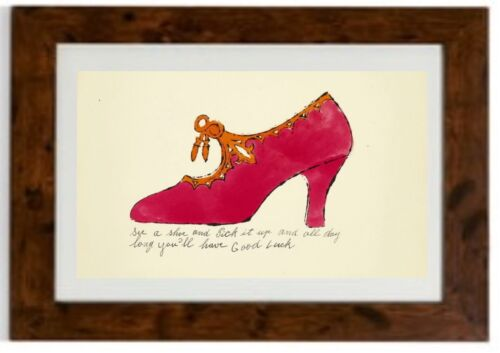 The Shoe Framed Print by Andy Warhol