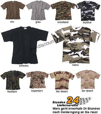 US Army Tarn T-Shirt camouflage uni 10 Farben S-XXL NEU