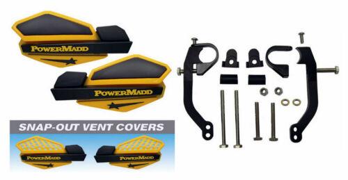 Powermadd Ski-Doo Yellow//Black Star Handguards//Mount Kit OffRoad Motorcycles//ATV