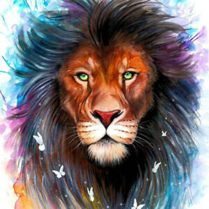 5D-Full-Drill-Diamond-Painting-Lion-Butterfly-Cross-Stitch-Embroidery-Decor-DIY