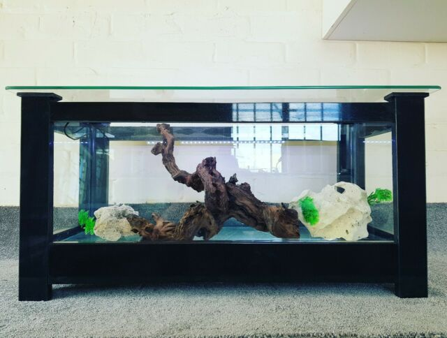Aquarium Coffee Table Fish Tank With Quartz Stone Surround And Led Lights