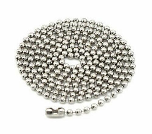 4 Pcs Plated Stainless Steel 23.5 inch Ball Chain Necklaces 2.4mm Beads