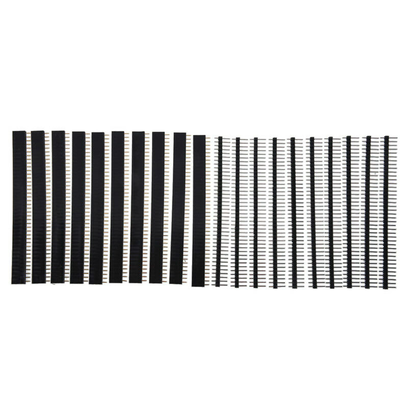 10x 40 Pin Header Strip Bande De Pin-tete Male Et Femelle A Simale Rangee 2,54mm