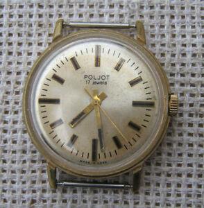 Vintage-Watch-Men-039-s-UdSSR-Sowjetische-russische-mechanische-Armbanduhr-Poljot-2609