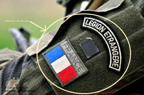 Green Beret French Foreign Legion Légion étrangère burdock 2-Patch Set Flag