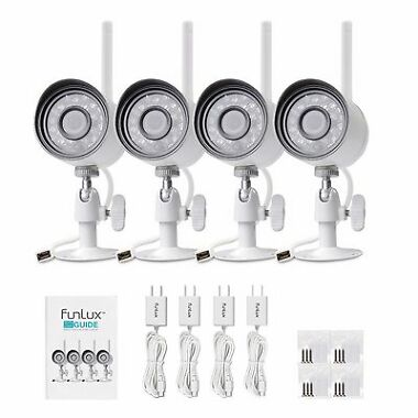 Funlux 720p HD 4 IP Wireless Outdoor IR Security Camera System