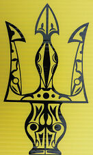 Neptune/Poseidon Trident Magic stickers/car/van/bumper/window/decal 5304 black