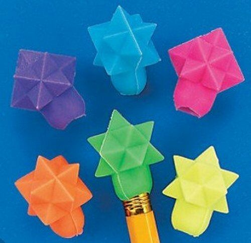 Teacher Supplies School Star Shaped Pencil Top Erasers Rubbers Pack of 24