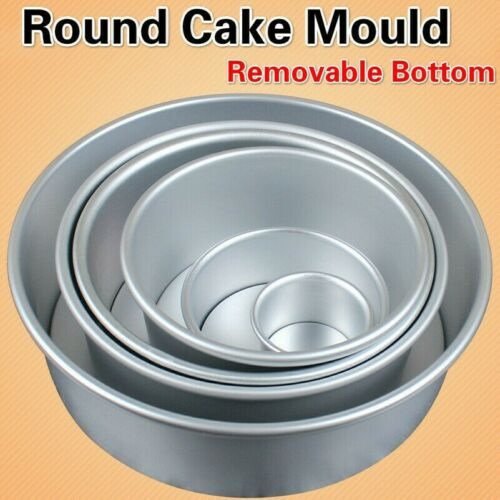 Non-stick Round Cake Mould Toast Bread Baking Pan Bakeware Removable Bottom Home