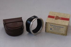 Mint-Rolleiflex-2-8F-RIII-Lens-Hood-Boxed-Bay-3-w-Leather-Case-Bayonet-lII