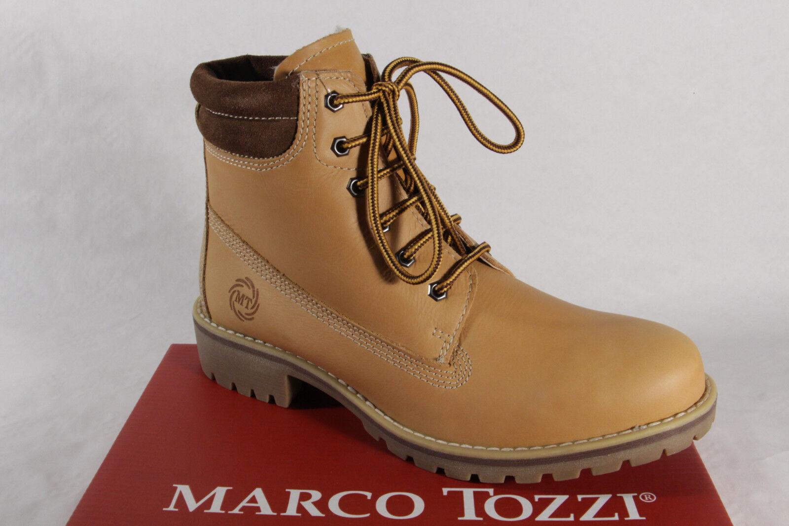 Marco Tozzi 26226 Botas mujer, Botines, Botas Cuero Auténtico Amarillo NUEVO