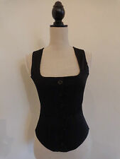 Baylis and Knight Black Corset Top Size 10. Made in England