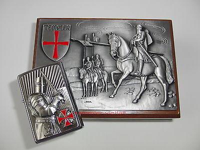 ZIPPO Feuerzeug TEMPLER 2 Crusader Limited Edition 0079 v.1000 Walnußholz Box