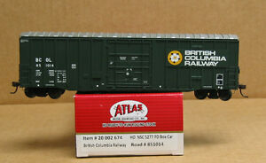 Atlas 20 002 675 HO British Columbia Railway NSC 5277 PD Box Car #851019