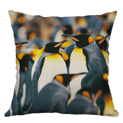 18/'/' Penguins seals Cotton Linen Waist Cushion Cover Pillow Case Home Decor