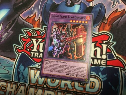 D//D//D Flame King Genghis CT13-EN005 Super Rare NM Yugioh Card