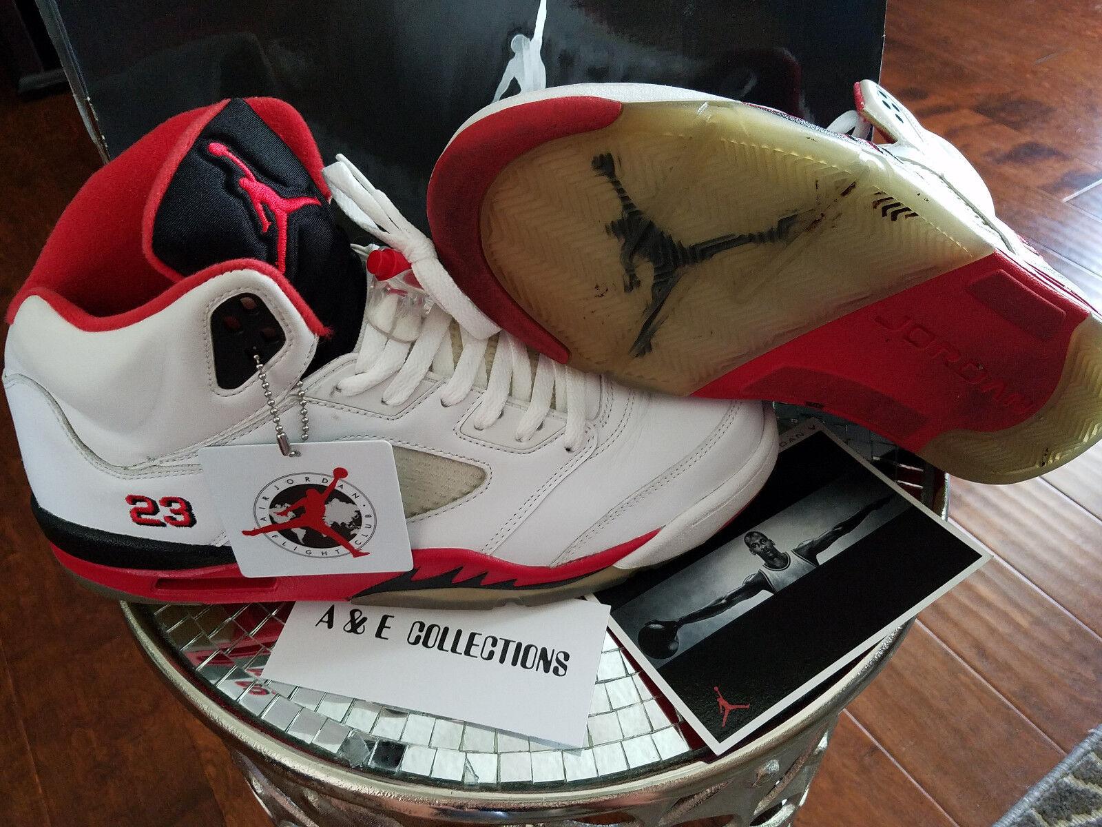 Nike Air Jordan 5 V Retro Fire Red 2018 Size 11.5 136027-162 bred concord