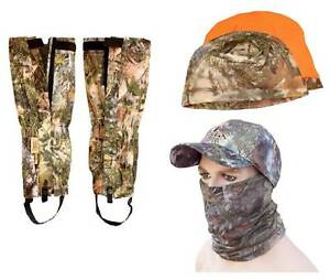 5pc-King-039-s-Camo-Mountain-Accessories-Bundle-Gaiters-Hat-Beanie-Neck-Mask-Lot