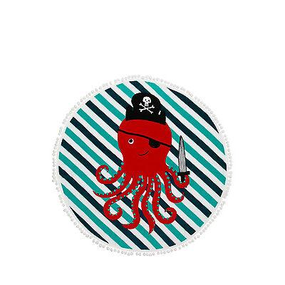 NEW Vue Junior Octopus Pirate Round Beach Towel Blue