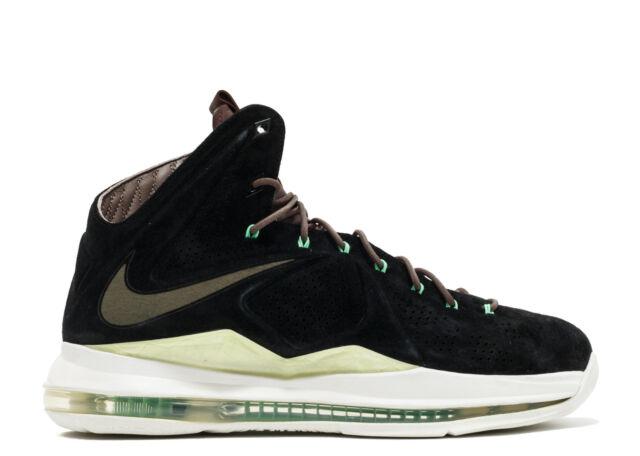 reputable site c0647 0c65c Nike LeBron 10 X EXT QS Mint Black Suede 11.5. 607078-001 MVP bhm
