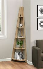 Birlea Nordic Scandinavian Retro Corner Ladder Bookcase Shelving Shelf Unit Oak