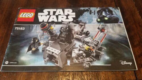 Manual Only LEGO Star Wars  Darth Vader Transformation 75183