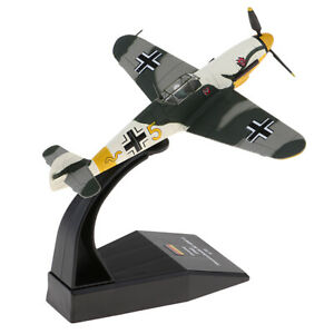 1-72-Scale-Bf-109-Me-109-Fighter-Aircraft-Diecast-Metal-Model-amp-Stand