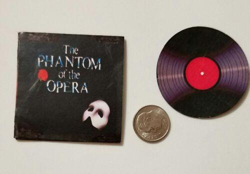 RECORD in miniatura ALBUM BARBIE GI JOE Figura playscale Fantasma dell/'Opera