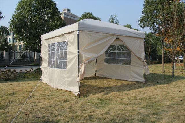 Pop-up Waterproof Outdoor Garden Gazebo 3x3m,2x2m Tent Marquee Canopy With bars