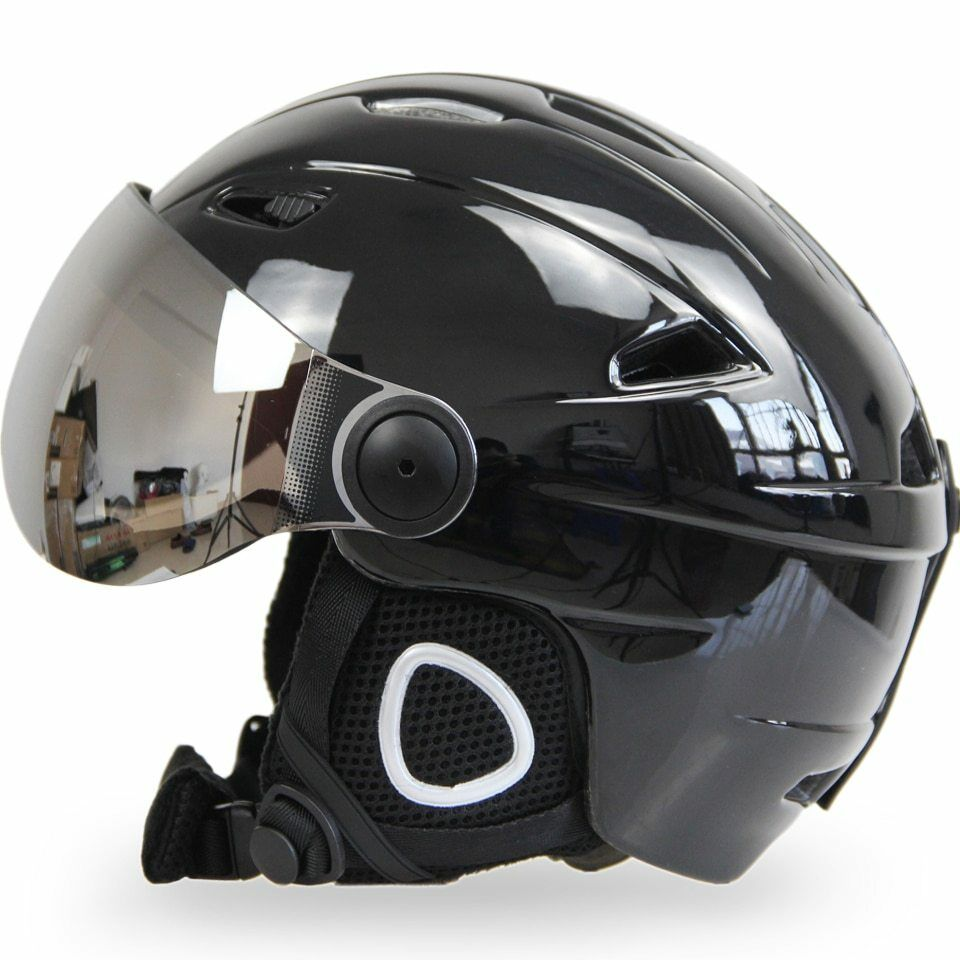 Ski Snowboard Helmet With Visor Goggles  Sled Sport Adult Safety Windproof  quality assurance