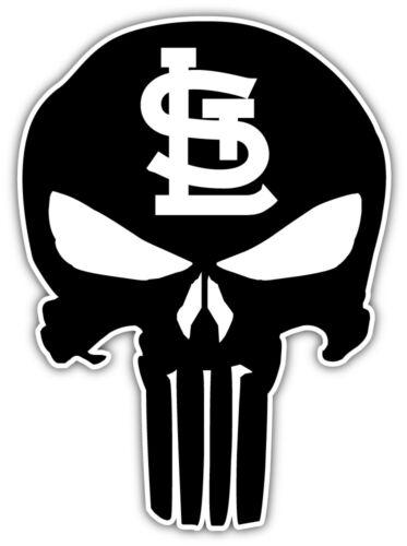 """St Louis Cardinals Punisher MLB Baseball Sport Car Bumper Sticker /'/'SIZES/"""""""