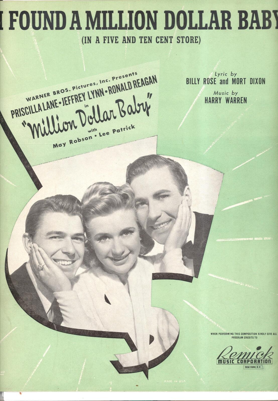 Million Dollar Baby  i Found a a a Million Dollar Baby  Ronald Reagan Priscilla 155902