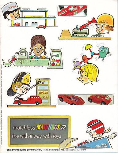 Matchbox FRED BRONNER DEALER CATALOG USA 1972